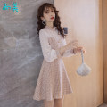 Dress Autumn 2021 Pink S,M,L,XL Short skirt singleton  Nine point sleeve commute stand collar middle-waisted Solid color zipper Big swing other Others 18-24 years old Type A Others Button, zipper, lace 81% (inclusive) - 90% (inclusive) other other