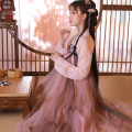 Hanfu 96% and above Autumn of 2019 [picturesque] Top + breast length Ru skirt 3M [picturesque] Top + waist length Ru skirt 3M [picturesque] Top + breast length Ru skirt 6m [picturesque] Top + waist length Ru skirt 6m [picturesque] top S M L XL polyester fiber