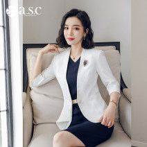 Professional dress suit S M L XL XXL XXXL Autumn of 2018 Long sleeves Coat other styles Suit skirt 25-35 years old AI Shangchen Polyester fiber 82.7% viscose fiber (viscose fiber) 14.9% polyurethane elastic fiber (spandex) 2.4% Pure e-commerce (online only)