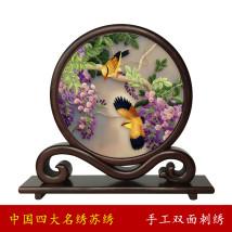 Suzhou embroidery Художественное оформление Минг и Цин классический Сян Йи Фань Чжуан Двусторонняя вышивка