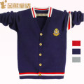 Sweater / sweater 120cm 130cm 140cm 150cm 160cm 170cm Pure cotton (100% cotton content) male Grey Navy Red Golden Bear fairy tale college No model Single breasted Thin money V-neck Fine wool other Cotton 100% KS088020 Class B Long sleeves Autumn of 2019 spring and autumn