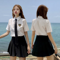student uniforms Spring 2020 S M L XL XXL Collection Plus purchase priority delivery Oh Long sleeves solar system skirt 18-25 years old Verria other 003 white straight hair Other 100% Same model in shopping mall (sold online and offline)