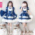 Dress Winter of 2019 Navy Dress + headdress M, L Solid color J-yuefang / jingyuefang 885 Navy