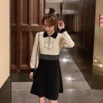 Women's large Autumn 2020 Large XL Large 2XL large 3XL large 4XL singleton  Socket Long sleeves Jinfuli 3 / F 3f122 5007 qiaoxinyi large Meiyaxing Triacetate fiber (triacetate fiber) 100%