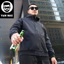 Jacket GxxH Fashion City black 2XL,3XL,4XL,5XL,6XL,7XL routine easy Other leisure winter t19671 Polyester 100% Long sleeves Wear out Hood tide Large size Medium length Zipper placket 2019 other Closing sleeve Solid color Save pocket polyester fiber More than 95%