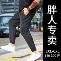 Casual pants GxxH Youth fashion 2XL,3XL,4XL,5XL,6XL routine Ninth pants Other leisure easy Micro bomb summer Large size tide 2019 Medium low back Straight cylinder Polyamide fiber (nylon) 80% polyurethane elastic fiber (spandex) 20% Sports pants washing other other nylon cotton Fashion brand