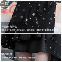 skirt Summer 2020 L,M,S,XS,XL The side zipper of black lotus leaf skirt is half elastic, and the black cake skirt is all elastic fresh High waist Cake skirt Decor Type A 25-29 years old 31% (inclusive) - 50% (inclusive) Chiffon Other / other polyester fiber