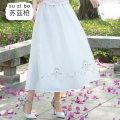 skirt Spring 2020 Average size Pink light blue white longuette commute Natural waist A-line skirt Solid color SZB20A200819 More than 95% Suzberg other Embroidery Other 100% Pure e-commerce (online only)