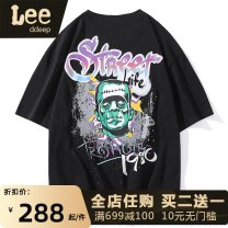 T-shirt Youth fashion White black routine S M L XL 3XL XXL 4XL elbow sleeve Crew neck easy daily summer GJ21016 Cotton 99% other 1% youth Off shoulder sleeve tide Cotton wool Summer 2021 Cartoon animation printing cotton Cartoon animation other Fashion brand Pure e-commerce (online only)