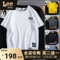 T-shirt Youth fashion White yellow dark grey black haze blue routine M L XL 2XL 3XL HCl (clothing) Short sleeve Crew neck easy Other leisure summer D3WDC2CC22-1 Polyester 95% polyurethane elastic fiber (spandex) 5% youth routine Youthful vigor other Spring 2021 Alphanumeric Assembly polyester fiber