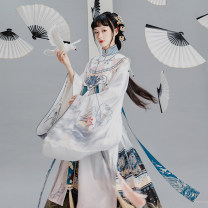 Hanfu 96% and above Winter 2020 Long shirt in stock, cloud shoulder in stock, horse face skirt in stock, long shirt at the end of May, cloud shoulder at the end of May 50. M, s, XS, one size fits all polyester fiber