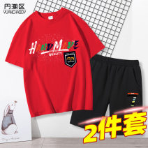 suit Yuanchaoqv / tidal area 110cm 120cm 130cm 140cm 150cm 160cm male summer other Short sleeve + pants 2 pieces routine There are models in the real shooting Socket nothing Cartoon animation cotton children Learning reward 2019HYF1230-4 Class B Cotton 100% Winter of 2019 Chinese Mainland