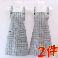 apron Purple pure cotton Strap Red pure cotton Strap Red strap (extra value two pack) Purple strap (extra value two pack) Purple + Red strap (extra value two pack) Sleeveless apron antifouling Simplicity pure cotton Personal washing / cleaning / care Average size Luo Zhiqi public yes Retro style