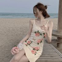 Dress Summer 2021 Picture color Average size Mid length dress singleton  Sleeveless commute High waist Decor One pace skirt other camisole 18-24 years old Emperor's paradise Korean version 04101159 # More than 95% other Other 100% Pure e-commerce (online only)