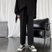 Casual pants Zijun Youth fashion Black Plush grey M L XL 2XL routine trousers Other leisure easy Micro bomb K127 autumn teenagers tide 2019 middle-waisted Straight cylinder Polyester 100% Haren pants Solid color No iron treatment Solid color Autumn of 2019 Pure e-commerce (online only)