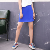 skirt Summer of 2018 S,M,L Sapphire blue, orange red Mid length dress street 25-29 years old SB0218006 SIBYL OF NO.17 Europe and America