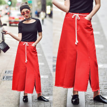 skirt Summer of 2018 S,M,L Black, red Mid length dress street 25-29 years old SB1718006 SIBYL OF NO.17 Europe and America