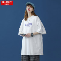 Women's large Summer 2021 M (90-110 Jin) l (110-130 Jin) XL (130-150 Jin) 2XL (150-170 Jin) 3XL (170-190 Jin) 4XL (190-210 Jin) 5XL (210-230 Jin) T-shirt singleton  street easy moderate Socket Short sleeve Cartoon animation Crew neck routine cotton Three dimensional cutting routine wrzb 96% and above