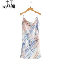 Dress Summer 2021 Blue, green L,M,S Short skirt singleton  commute High waist other Socket One pace skirt Others 30-34 years old Other / other Stitching, backless, tie dyeing, printing 30% and below other