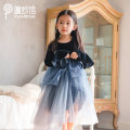 Dress Night and starry sky female PureShare 90cm 100cm 110cm 120cm 130cm 140cm 150cm Other 100% spring and autumn princess Long sleeves Solid color other A-line skirt Night and stars dress Class B Autumn 2020 Chinese Mainland Guangdong Province Shenzhen City