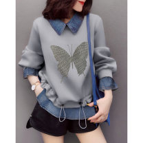 Sweater / sweater Spring 2021 grey S M L XL Long sleeves have cash less than that is registered in the accounts Socket Fake two pieces routine square neck Straight cylinder street routine 30-34 years old 96% and above Miheng other BB211v15022p1220 Other 100% Pure e-commerce (online only)