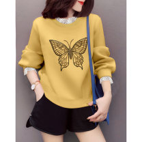 Sweater / sweater Spring 2021 yellow S M L XL Long sleeves have cash less than that is registered in the accounts Socket Fake two pieces routine Crew neck Straight cylinder street routine 30-34 years old 96% and above Miheng other BB211v15222p1250 Other 100% Pure e-commerce (online only)