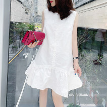 Dress Summer 2021 White red purple white 10280p white 10261p S M L XL Mid length dress singleton  Sleeveless street Crew neck High waist Solid color other Others 30-34 years old Miheng BB201v10267p0110 81% (inclusive) - 90% (inclusive) polyester fiber Polyester 85% polyamide 15% Europe and America