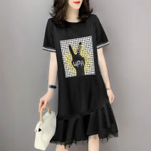 Dress Summer 2020 black S M L XL Middle-skirt singleton  Short sleeve street Crew neck High waist other Socket routine Others 30-34 years old Miheng BB202v10881p0130 More than 95% other Other 100% Pure e-commerce (online only) Europe and America