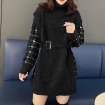 Dress Winter 2020 black S M L Middle-skirt singleton  Long sleeves street High waist Solid color Socket other other Others 30-34 years old Miheng B194y11130p0130 81% (inclusive) - 90% (inclusive) polyester fiber Polyester 85% polyamide 15% Pure e-commerce (online only) Europe and America