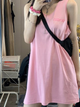 Dress Summer 2020 Sniper powder S M L Short skirt Sleeveless straps 18-24 years old Beikui (clothing) BK80 More than 95% other Other 100%