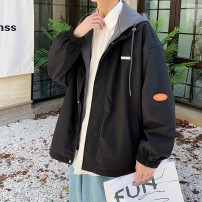 Jacket ABYB Youth fashion J20304 green dark gray white pink blue black M L XL 2XL 3XL routine easy Other leisure spring ABYB5095 Polyester 100% Long sleeves Wear out Hood routine Zipper placket Cloth hem Closing sleeve Solid color Spring 2021 Exclusive payment of tmall