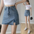skirt Spring 2021 S M L XL blue Short skirt Versatile High waist skirt Type A 18-24 years old More than 95% Pear flower smile other Other 100% Exclusive payment of tmall