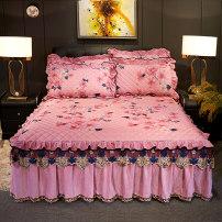 Bed skirt 150cmx200cm (single bed skirt), 180cmx200cm (single bed skirt), 180cmx220cm (single bed skirt), 200cmx220cm (single bed skirt), 150cmx200cm bed skirt + pillow case, 180cmx200cm bed skirt + pillow case, 180cmx220cm bed skirt + pillow case, 200cmx220cm bed skirt + pillow case polyester fiber