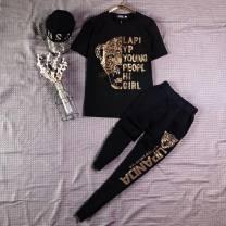 Casual suit Summer 2020 black M L XL XXL 3XL 4XL 5XL B250 Pei Hanxue Other 100% Pure e-commerce (online only)
