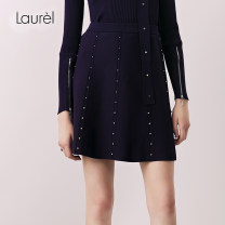 skirt Spring of 2018 32,34,36,38,40 Midnight purple 638 Short skirt commute Natural waist A-line skirt Solid color Type A 25-29 years old L181M00100 51% (inclusive) - 70% (inclusive) LAUREL Viscose Button