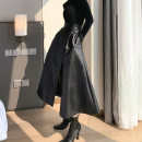skirt Autumn 2020 S M L black longuette commute High waist A-line skirt Solid color Type A 25-29 years old R36080 91% (inclusive) - 95% (inclusive) RUUHEE polyester fiber zipper Retro Other polyester 95% 5% Pure e-commerce (online only)