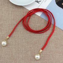 Belt / belt / chain other female belt Versatile youth Round buckle soft surface weave WP157