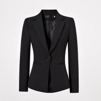suit Autumn 2020 S. M, l, XL, 2XL, 3XL, 4XL, 5XL, up and down wrong code / take message Long sleeves routine tailored collar Single breasted Solid color P38195 91% (inclusive) - 95% (inclusive) polyester fiber Other / other