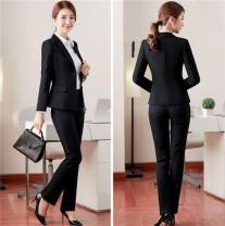 Professional pants suit S,M,L,XL,XXL,XXXL,4XL Autumn of 2018 loose coat Long sleeves trousers Other / other