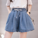 Jeans Summer 2020 blue S M L XL 2XL 3XL 4XL 5XL shorts High waist Wide legged trousers Thin money 18-24 years old White Multi Pocket Cotton elastic denim light colour Xiangxiufang 31% (inclusive) - 50% (inclusive) Other 100% Pure e-commerce (online only)