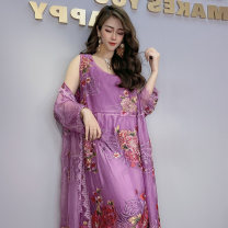 Fashion suit Spring 2021 Average size Purple, rose, pink, coffee 25-35 years old Other / other 96% and above polyester fiber