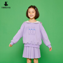 suit Tongzhen's life Blue, purple 110cm,120cm,130cm,140cm,150cm,160cm neutral spring and autumn college Long sleeve + skirt 2 pieces routine There are models in the real shooting Socket nothing Cartoon characters cotton TT11006 Class B 7, 8, 14, 6, 13, 11, 5, 10, 9, 12 Chinese Mainland
