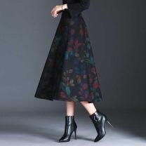 skirt Winter 2016 M 2 ft waist / 27, L 2 ft 1 waist / 28, XL 2 ft 2 waist / 29, 2XL 2 ft 3 waist / 30, 3XL 2 ft 4 waist / 31, 4XL 2 ft 5 waist / 32 The skirt length of version a is 80 cm, and that of version b is 70 cm High waist A-line skirt 81% (inclusive) - 90% (inclusive) Other / other zipper