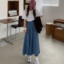 Gift bag / plastic bag Blue denim skirt looks thin