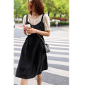 Dress Summer 2021 Black / two piece set M L Middle-skirt Two piece set Short sleeve commute Crew neck High waist Solid color other other puff sleeve camisole 30-34 years old Type X Tailor  buddy lady T21041210BT 51% (inclusive) - 70% (inclusive) cotton Cotton 60% polyester 40%