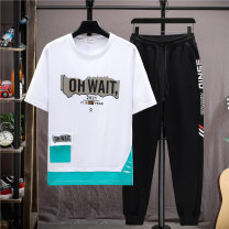 suit Aoyiluo M L XL 2XL 3XL male summer leisure time Short sleeve + pants 2 pieces Thin money No model Socket nothing children birthday AYL-2021033102 Summer 2021 9, 10, 11, 12, 13, 14 Chinese Mainland