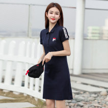T-shirt White F328, black F328, red F328, Navy F328# S,M,L,XL,2XL,3XL Short sleeve Polo collar routine commute cotton 86% (inclusive) -95% (inclusive) 25-29 years old Korean version letter The official flagship store's official website is authentic, new style in summer and spring of 2021