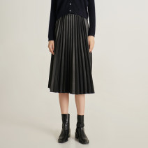 skirt Spring 2021 S,M,L Quiet black, milk white longuette commute High waist Pleated skirt Solid color Type A 25-29 years old A202235 More than 95% other Sudchenshudan polyester fiber fold Korean version