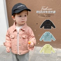 Plain coat Other / other currency 80cm,90cm,100cm,110cm,120cm,130cm Light yellow, skin pink, skin pink upgrade spring and autumn leisure time Single breasted routine nothing Solid color cotton square neck Cotton 70% flax 30% other