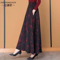 skirt Spring 2021 S 1'8-1'9, M 2'2-2'1, L 2'2-2'3, XL 2'4-2'6, 2XL 2'7-2'8, custom size contact customer service longuette High waist A-line skirt Stitching, printing, 3D